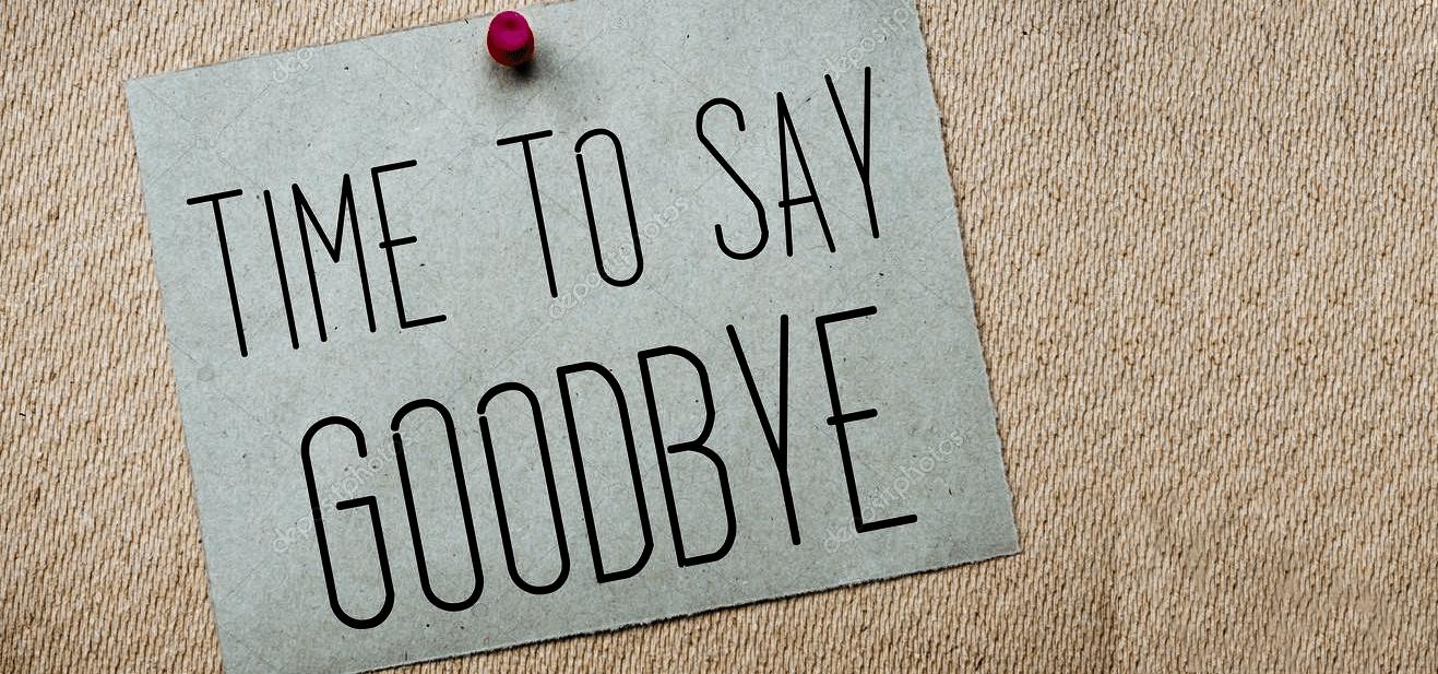 Tid til at sige farvel