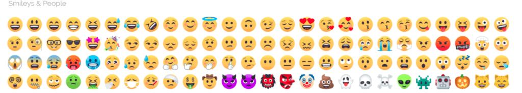 Copy/paste emojis