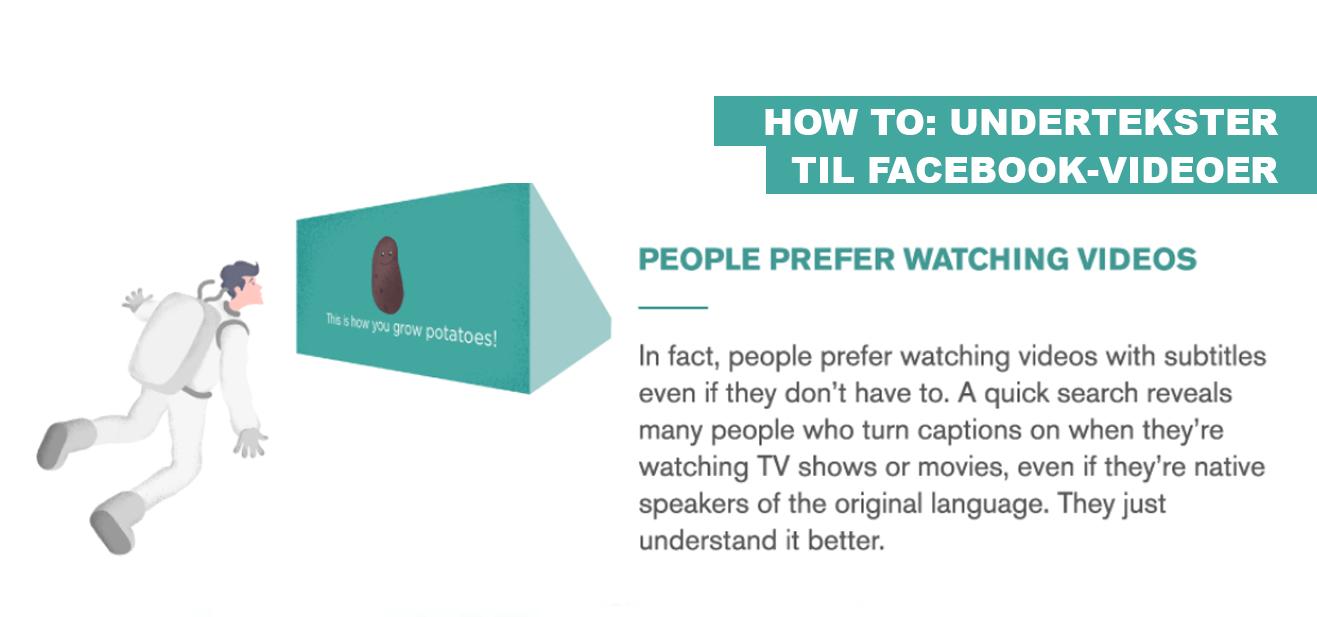How to: Undertekster til Facebook-videoer